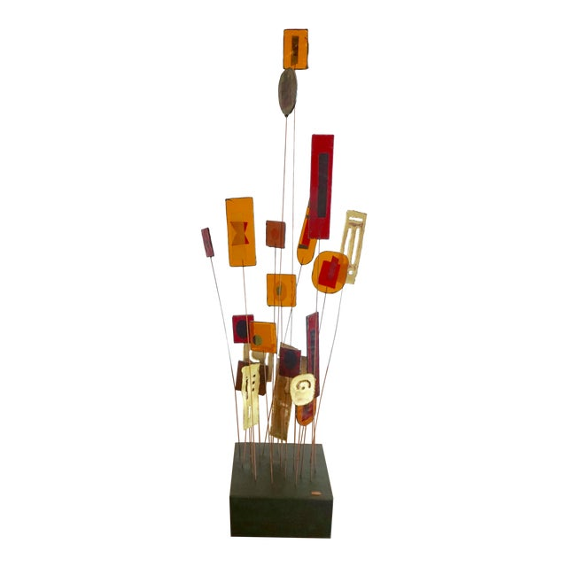 Kinetic Abstract Sculpture Bt Curtis Jere For Sale