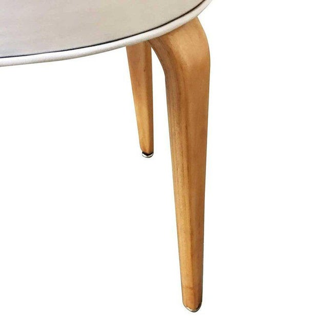 Thonet Modernist Bentwood Stool by Thonet, Circa 1950 For Sale - Image 4 of 5