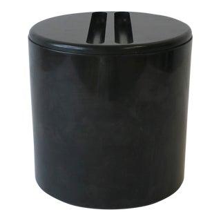 Designer Black Postmodern Italian Round Vessel Box for Progetti For Sale