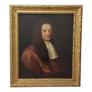 """18th to 19th Century Old Welsh Oil Portrait """"Peter Foulkes"""" of Denbigh, Wales For Sale"""