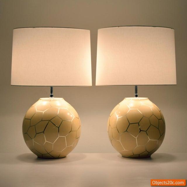 Karl Springer 1980s Contemporary Karl Springer Lamps - a Pair For Sale - Image 4 of 10
