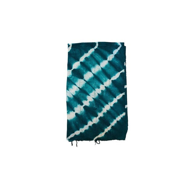 Teal mud cloth textile. A great colorful piece to add to your decor! Local Pickup is available ONLY during normal business...