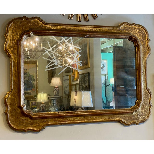 Red 19th Century Antique French Gilt Mirror For Sale - Image 8 of 8