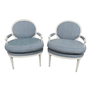 20th Century Louis XVI Style Armchairs - a Pair For Sale
