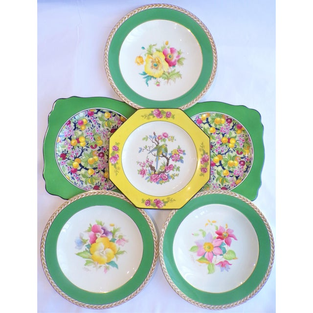 (Final Markdown) 930's Crown Ducal Ware Chintz Plates - Set of 6 For Sale - Image 12 of 13