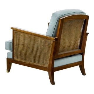 Maurice Jallot Refined Caned Arm Chair(attributed) For Sale