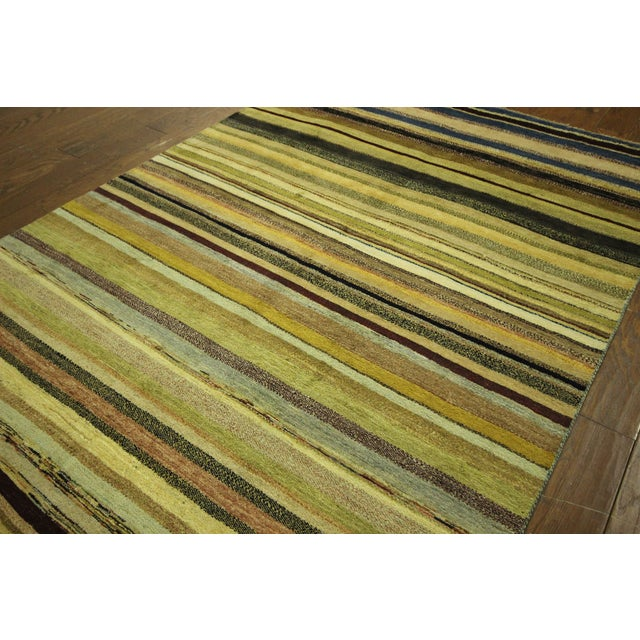 "Oushak Collection Striped Gabbeh Rug - 5'7"" x 8'1"" - Image 4 of 10"