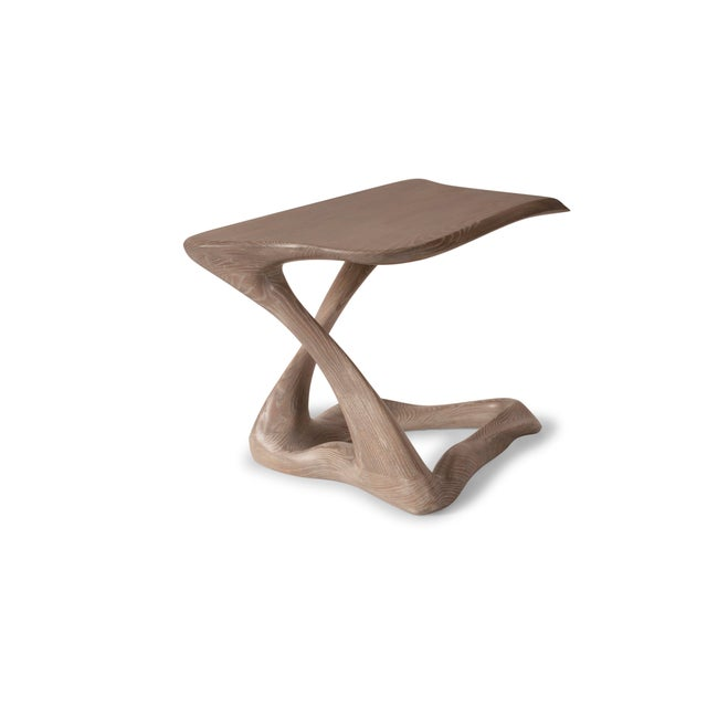 Amorph Tryst Side Table in Gray Custom Stain For Sale - Image 9 of 9
