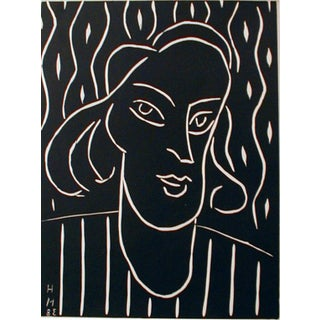 Henri Matisse Linocut Engraving, Revue XX Siecle 1970 For Sale