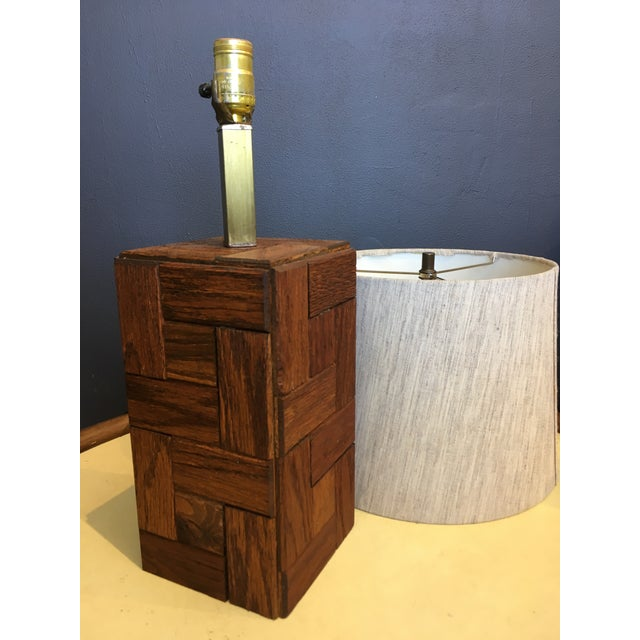 1960s Mid-Century Hand Crafted Wood Table Lamp For Sale - Image 5 of 10