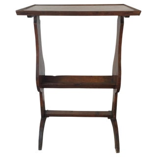 19th C. French Walnut Side Table For Sale