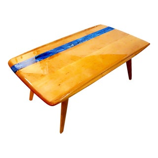 Heywood-Wakefield Danish Modern Resin Inlaid Coffee Table