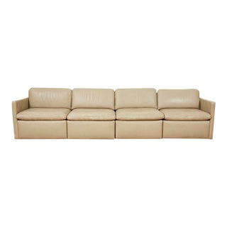Martin Brattrud Custom Four-Piece Postmodern Leather Sectional Sofa, 1988 For Sale