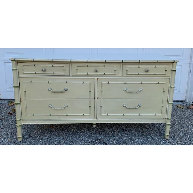 1970s Faux Bamboo Allegro by Thomasville Dresser For Sale - Image 11 of 11