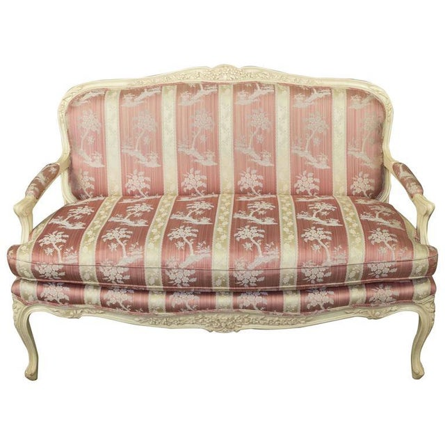 Louis XV Style Settee With Painted Finish - Image 11 of 11