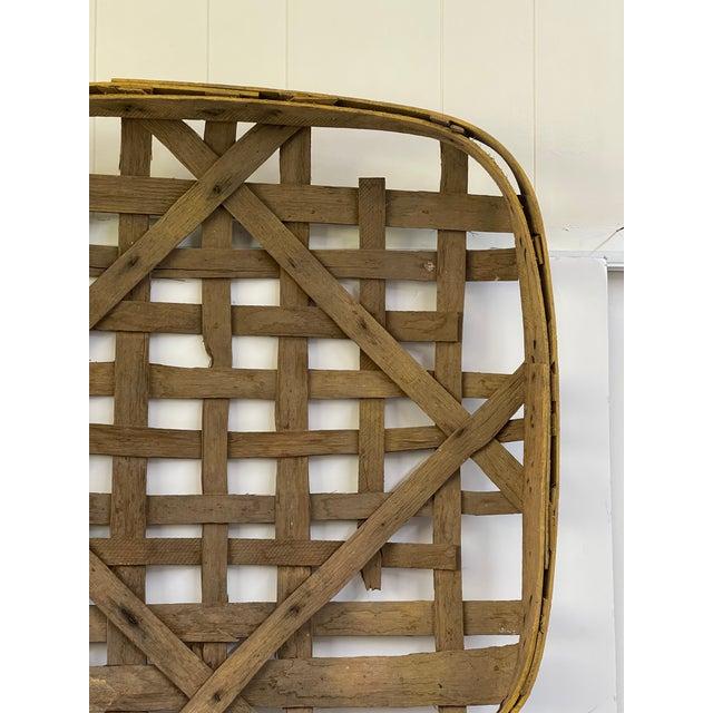 Farmhouse Large Authentic Antique Tobacco Basket For Sale - Image 3 of 12