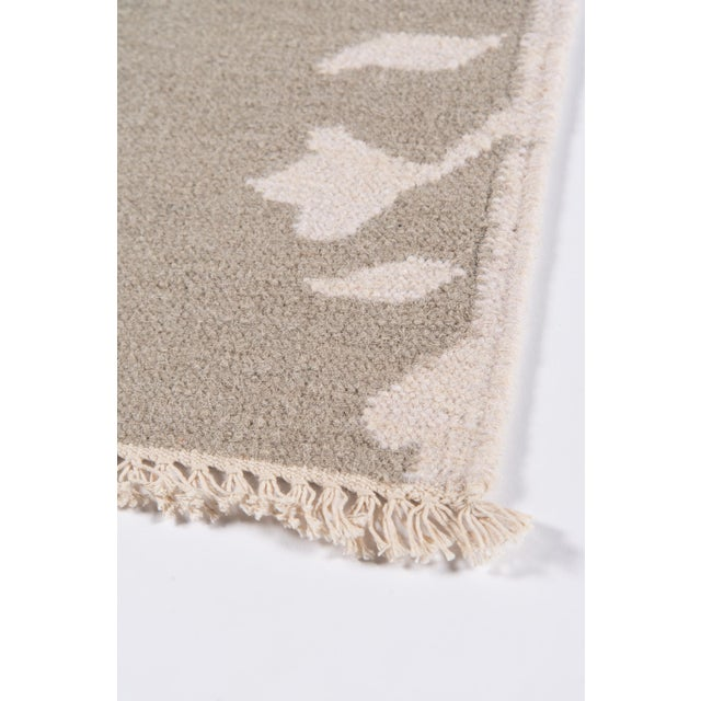 """Erin Gates Thompson Grove Grey Hand Woven Wool Runner 2'3"""" X 8' For Sale - Image 4 of 7"""
