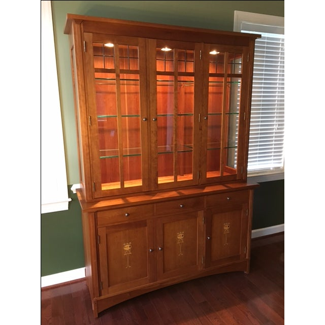 Stickley Harvey Ellis Cherry Buffet & China Hutch - Image 2 of 9