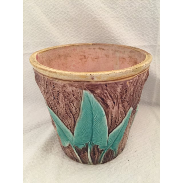 Antique English Majolica Cachepot - Image 3 of 7