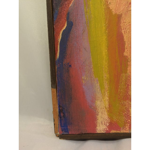 """""""One and Two,"""" Oil Painting Circa 1966 - Image 6 of 7"""