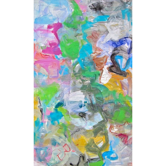 """Mardi Gras"" Abstract by Trixie Pitts 30""x50"" - Image 3 of 4"