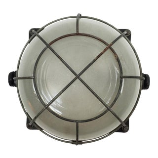 Industrial wall or ceiling lamp, 1940s For Sale