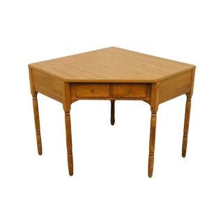 Late 20th Century Vintage Ethan Allen Corner Desk For Sale