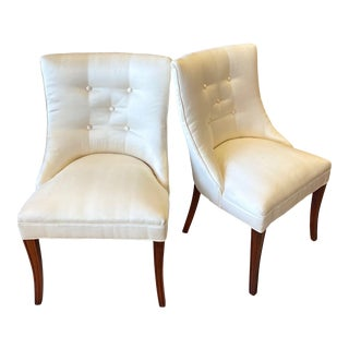 Mid 20th Century Slipper Accent Chairs - a Pair For Sale