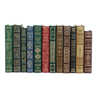 Set of 12 Franklin Mint 1st Edition Signed Leather Books For Sale