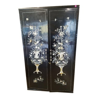 Double Door Mother of Pearl Cabinet For Sale