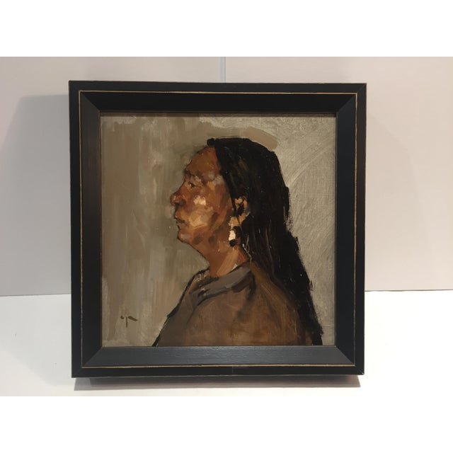 Another compelling contemporary image by Paula Rubino. This painting is framed. Frame size is 11.5 X 11.5 X in. Actual...