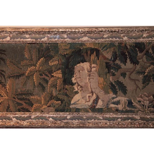 18th Century Framed French Aubusson Tapestry For Sale - Image 5 of 10