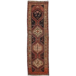 """RugsinDallas Vintage Persian Hamedan Wool Runner - 2'9"""" X 9'8"""" For Sale"""