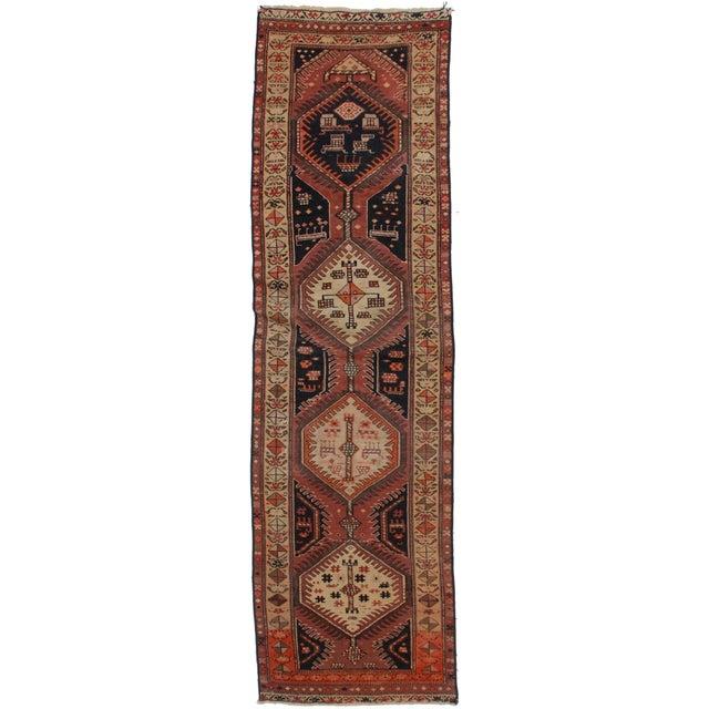 """Vintage Persian Hamedan Wool Runner - 2'9"""" X 9'8"""" For Sale"""