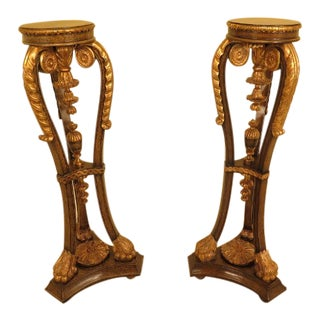 Maitland Smith Classical Pedestal Stands - a Pair For Sale