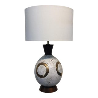 Mid-Century Modern Volcanic Glaze Lamp by Bitossi For Sale