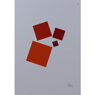 Anton Stankowski Classic Abstract Red Serigraph For Sale