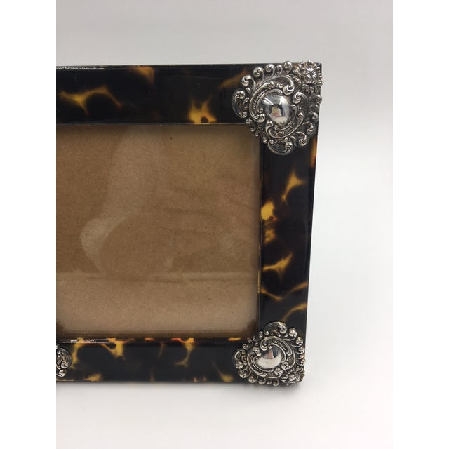 Contemporary Linda Levinson Faux Tortoise Photo Frame For Sale - Image 4 of 9
