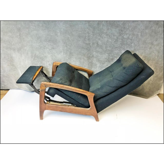 Brown Mid Century Modern Upholstered Recliner - Adrian Pearsall for Craft Associates For Sale - Image 8 of 13