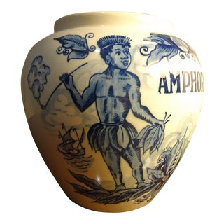 "Delft Hand Painted ""Amphora"" Jar"
