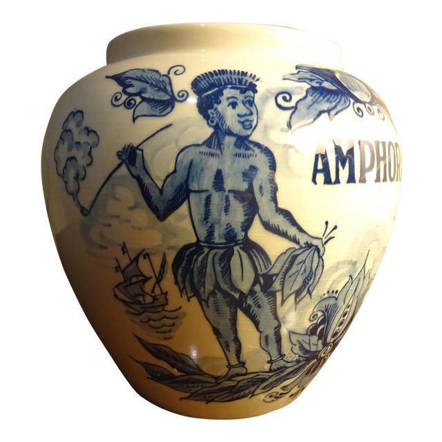 "Delft Hand Painted ""Amphora"" Jar For Sale"