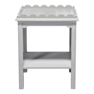 Kindel Mario Buatta Grey Lamp Table For Sale