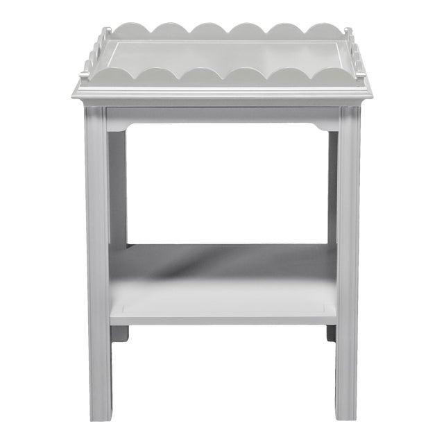 Kindel Mario Buatta Grey Lamp Table For Sale
