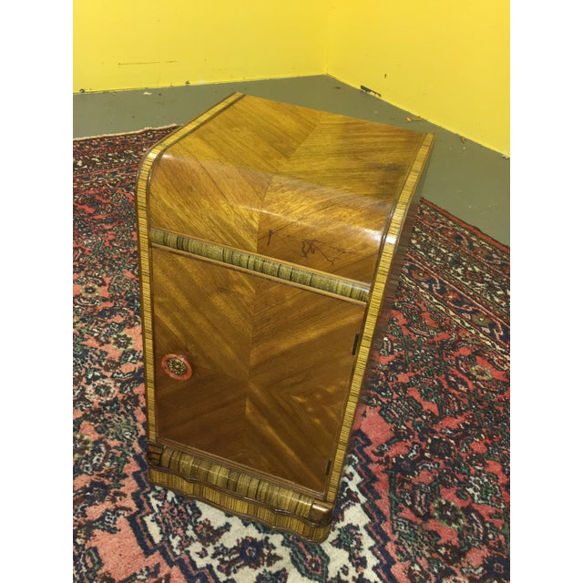 Antique Art Deco Waterfall Style Nightstand - Image 3 of 9
