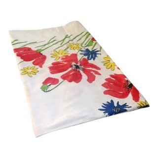 Vintage Vera Square Floral Tablecloth For Sale