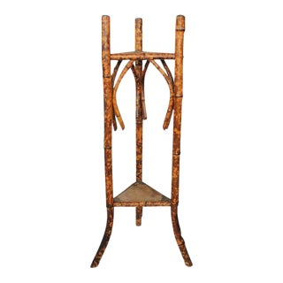 Victorian Tortoise Shell Bamboo Stand For Sale