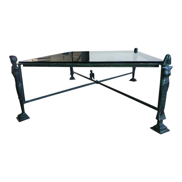 1980' Replica Diego Giacometti Bronze Coffee Table For Sale