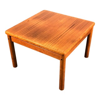 Trioh Mid-Century Danish Modern Teak End Table Floating Top ~ Made in Denmark For Sale