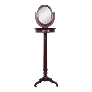 19th Century Victorian Mahogany and Marble Mirrored Shaving Stand For Sale