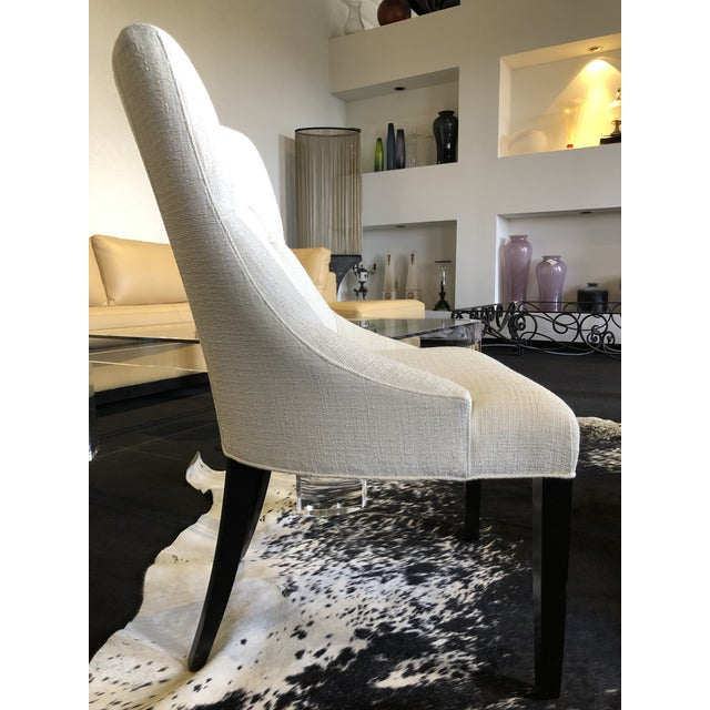 White Modern Swaim Furniture Dining Chairs- Set of 6 For Sale - Image 8 of 13